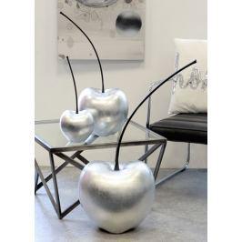 Papillon Dekorace třešeň Celebration, 42 cm, stříbrná