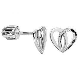 Brilio Silver Stříbrné srdíčkové náušnice 431 001 02756 14 - 1,06 g stříbro 925/1000