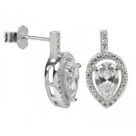 Silver Cat Stříbrné náušnice s krystaly SC072 stříbro 925/1000