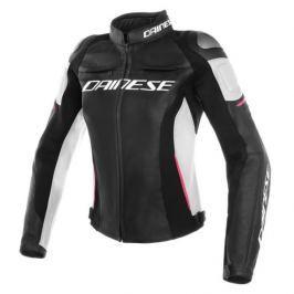 Dainese bunda dámská RACING 3 LADY vel.38 černá/bílá/růžová, kůže