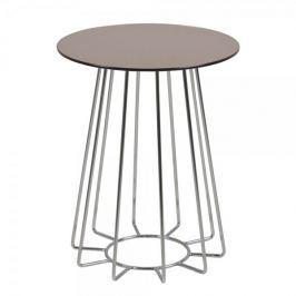 Design Scandinavia Konferenční / noční stolek Goldy, 50 cm, chrom/bronz