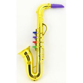 Teddies Saxofon plast 36cm - zlatý