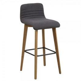 Design Scandinavia Barová židle Areta (SET 2 ks), antracit