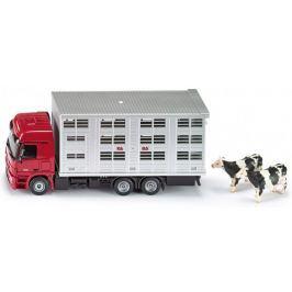 SIKU Transportér pro přepravu hospodářských zvířat + 2 krávy, 1:50