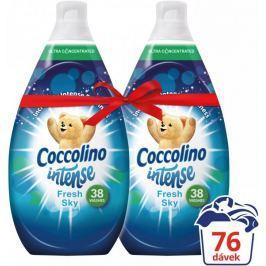Coccolino Intense Fresh Sky aviváž 2 x 570 ml (76 praní)