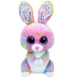 TY Beanie Boos BUBBY - pestrobarevný zajíček, 24cm
