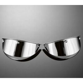 Highway-Hawk štítky pro přídavná světla motocyklu, d=115mm, chrom (2ks)