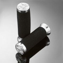Highway-Hawk pěnové gripy 25mm  FOAM EAGLE SPIRIT, černá/chrom (2ks)