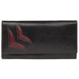 Lagen Dámská kožená peněženka Black/Red 6011/T