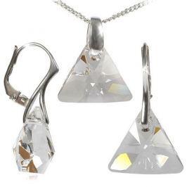 MHM Souprava šperků Triangle Crystal Ag 34197 stříbro 925/1000