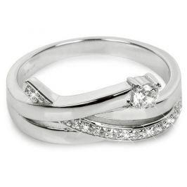 Silver Cat Stříbrný prsten se zirkony SC203 (Obvod 56 mm) stříbro 925/1000