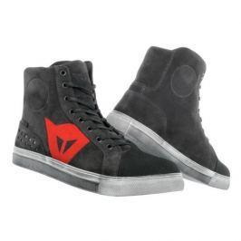 Dainese kotníkové dámské boty STREET BIKER LADY D-WP vel.36 karbon/červená, kůže (pár)