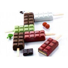 Silikomart Silikonová forma na nanuky – 2 kusy čokoláda