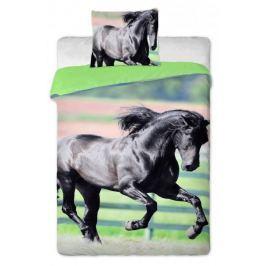 Jerry Fabrics Povlečení Černý kůň