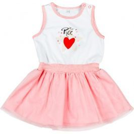 MMDadak dívčí šaty Rock Star 92 růžová