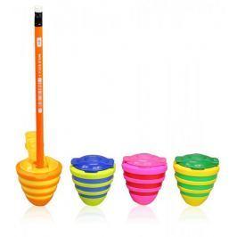 Ořezávátko plastové Y-Plus Wheel 2 otvory zásobník+víčko mix barev