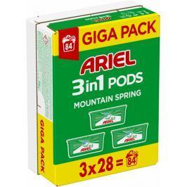 Ariel Mountain Spring 3v1 gelové kapsle 84 ks