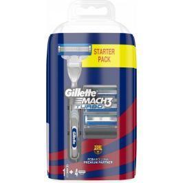 Gillette Mach3 Turbo FC Barcelona Pánský holicí strojek + 4 holicí hlavice
