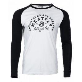 MEATFLY pánské tričko Rioter M bílá