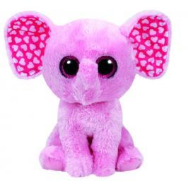 TY BOOS růžový slon SUGAR, 24 cm - Medium
