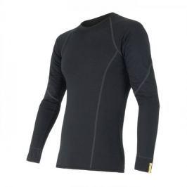 Sensor Merino Wool Active pánské triko dl.ruk. černá S Pánský