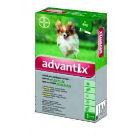 Bayer Advantix pro psy spot-on do 4 kg 1x0,4 ml