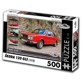 RETRO-AUTA© Puzzle č. 11 - ŠKODA 120 GLS (1978) 500 dílků