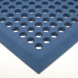 Modrá olejivzdorná protiskluzová protiúnavová průmyslová rohož - 150 x 90 x 1,2 cm