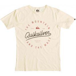 Quiksilver Slub Scriptville M Tees Trans Yellow S