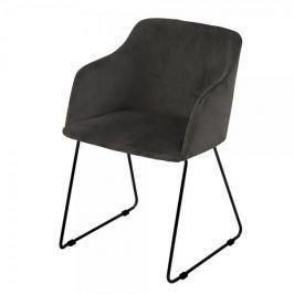 Danish Style Židle s područkami Blanka (SET 2 ks), antracitová