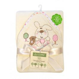 BoboBaby Dětská osuška ECO BIG, krémová-růžová