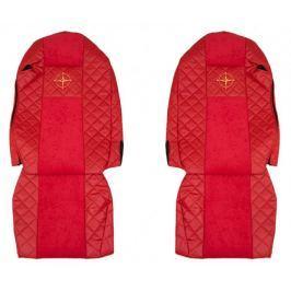 F-CORE Potahy na sedadla FX10, červené