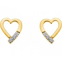 Hot Diamonds Stříbrné náušnice Just Add Love Memories Gold DE401 stříbro 925/1000