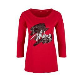 s.Oliver dámské tričko 34 červená