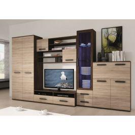 ORYON, obývací stěna, wenge/dub sonoma včetně LED