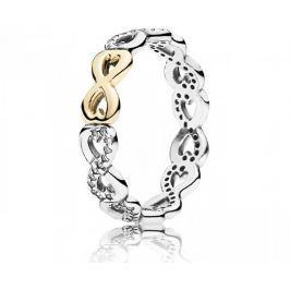 Pandora Stříbrný nekonečný prsten 190948CZ (Obvod 50 mm) stříbro 925/1000