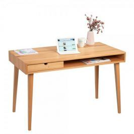 Artenat Psací stůl se zásuvkou Ida, 120 cm, buk