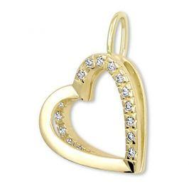 Brilio Zlatý přívěsek Srdce s krystaly 249 001 00493 - 1,10 g zlato žluté 585/1000