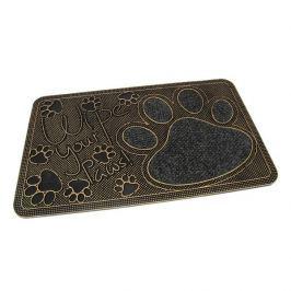 FLOMAT Textilní gumová vstupní rohož Wipe Your Paws - 75 x 45 x 1 cm