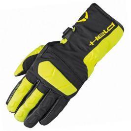 Held rukavice DESCOT vel.8 černá/fluo žlutá, textil/kůže (pár)