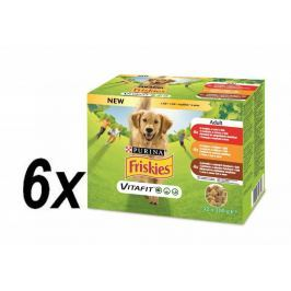 Friskies ADULT Dog multipack hovězí/kuře/jehněčí v želé 6x (12x100g)