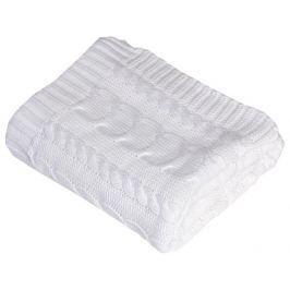 Rialto Baby pletená deka bavlna,bílá,copánky
