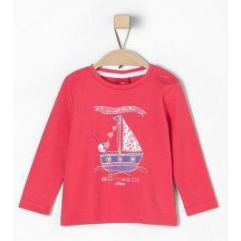 s.Oliver dívčí tričko s lodičkou 62 růžová