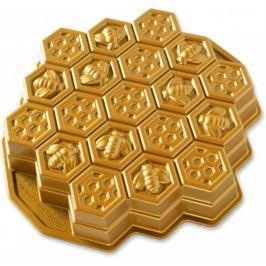 Nordic Ware Forma včelí plástev zlatá