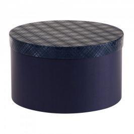Dárková krabice Lucie 3, tmavě modrá kára - 34,5x20 cm