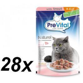 PreVital NATUREL dušené filetky pstruh v želé 28 x 85 g