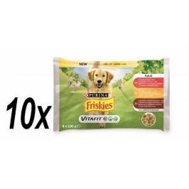 Friskies ADULT Dog multipack hovězí/kuře/jehněčí v želé 10x (4x100g)