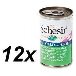 Schesir Konzerva Kitten kuřecí + aloe 12 x 140g