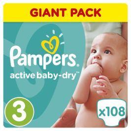 Pampers Pleny Active Baby 3 Midi (4-9kg) Giant Box -108ks