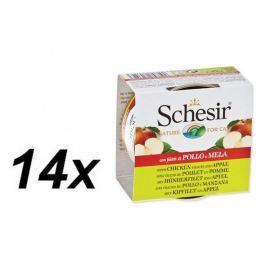 Schesir Konzerva Cat Fruit kuřecí + jablko 14 x 75 g
